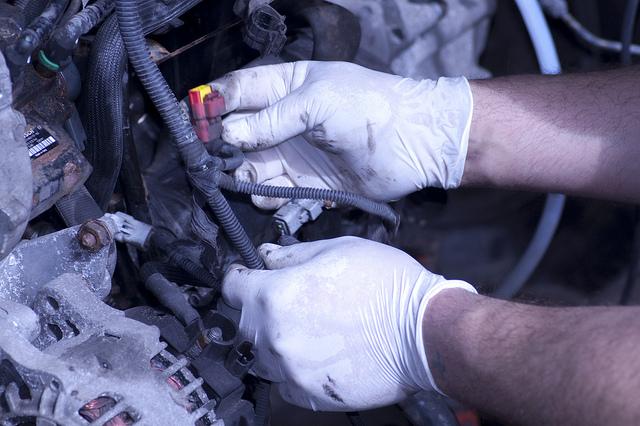 Motor på bil
